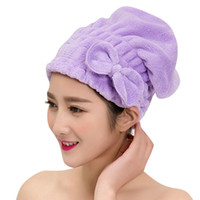 Wholesale Shower Heads For Women - Wholesale- 21x25cm Dressing Gown for Women Hair Dryer Shower Head Hat for Girls Bath Bathroom Braid-hat Hats Men Shower Cap Female Bone