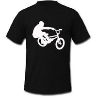 Wholesale Short Bmx - T Shirt High Quality Men'S Bmx Rider Biker Vector O-Neck Short Sleeve Casual Tee Shirts