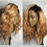 Fantasy Beauty Honey Blonde Cheveux Humains Perruques Ombre Lace Front Perruque 1B 27 360 Lace Frontal Wigs Loose Wave Full Lace Wigs
