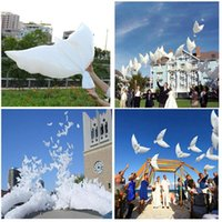 Wholesale Bio Balloons - Hot Sales 500pcs lot white bio dove pigeons bird helium balloons wedding party event decorations size 105*45cm Free Shipping
