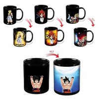 Wholesale Ceramic Coffee Mugs Spoons - Wholesale- New Drinkware Dragon Ball Z Cup SON Goku Color Changing Cup Heat Reactive Ceramic Mugs Super Saiyan Milk Coffee Taza Gogeta Gift