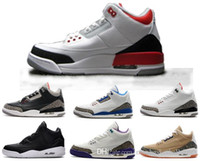 Vente en gros air retro 3 homme basket-ball chaussures OG True Blue Fire rouge infrarouge athlétique Cyber ​​lundi discount mens sneaker vente en ligne