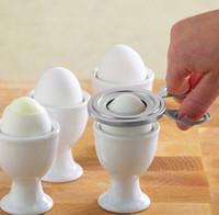 устройство для яиц оптовых-Нержавеющая сталь яйцо резак легко открыть яйцо кухонные инструменты яйцо омлет устройство высокое качество маринование резки яйца
