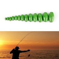 Wholesale- 1Pc 1g-50g Olive Shape Weights Lead Sinkers Pure Lead Making Sea Fishing Tackle New