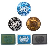 Wholesale Military Apparel - 2017 Fashion Patch Badge Of International U.N UN United Nations Genuine Armbands Shoulder For Most Military Kit And Apparel Badg free ship