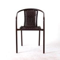 Wholesale High quality leisure hotel garden balcony PE rattan wicker chair balcony leisure outdoor furniture milk tea shop coffee tables and chairs
