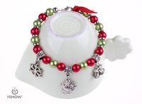 Wholesale Accessories Girlfriend - Fashion accessories bracelets charm bracelet Xmas bell santa claus gift for girlfriend Anti-sliver jewelery
