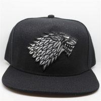Wholesale Free Song Games - Wolf Hat Snapback Baseball Caps A Song Of Lce And Fire Winter Is Coming Hat Game Of Thrones House Stark Of Winterfell Embroid Hat
