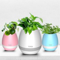 Wholesale 2017 Creative TOKQI Bluetoth Smart Touch Music Flowerpots Plant Piano Music Playing K3 Wireless Flowerpot Without Plant