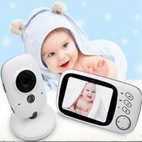 Wholesale Cameras Moniter - Wholesale- 3.2 inch Wireless Video Color Night vision Baby Monitor Camera Baby Sleep Nanny Security video camera monitor LCD Moniter
