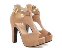 рума обувь оптовых-оптовик freee доставка peep toe roma стиль Женская обувь платформа коренастый каблук леди сандалии женщин высокий каблук платье обуви 301