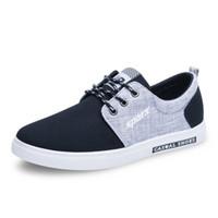 995148a50 O envio gratuito de homens sapatos casuais respirável material de pano  sapato de lona sapatos de caminhada flat shoes um para venda coreano sola  de borracha ...