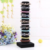 Wholesale Display Stands Headband - Fashion Removable Black Hairband Stand Headband Holder Jewelry Accessories Rack Hairclip Display Bracelet Shelf Jewelry Display