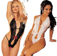 Wholesale sex lady lingerie - Hot Sale Sex Products Sexy Costumes Women Underwear Lady Lingerie Transparent Conjoined Dress Suit Leotard Intimates Q024-2