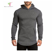 Wholesale Slim Muscle Men - Wholesale-Gymshark Hoodies camisetas masculina hombre coat Bodybuilding and fitness hoodies Sweatshirts Muscle men's sportswear size M-2XL