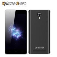 qhd bildschirm smartphone großhandel-Original VKworld F1 4,5 Zoll Android 5.1 3G WCDMA MTK6580 Quad Core 1,3 GHz 8 GB ROM 1 GB RAM Dual-SIM-Play Store GPS-Handys