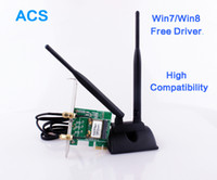 Wholesale pci wifi card desktop - Wholesale- Super High Signal 802.11b g n PCI Express Wireless WiFi Adapter Card with 2 Antenna for Desktop WI-FI Receiver Network Card