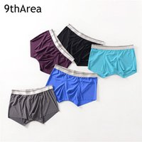 Wholesale Ice Mens Underwear - 3-Pack Sexy Men underwear male Boxer shorts modal Ice silk Seamless u convex mens underpants cueca boxer homme man Pouch