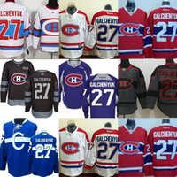 Wholesale Ice Hockey Outlet - 2017 Wholesale Montreal canadians Mens 27 Alex Galchenyuk Red white Black Grey Blue Ice Hockey Jerseys Factory outlet S-XXXL