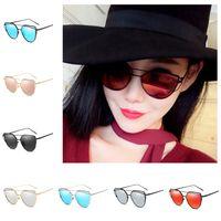 Wholesale Wholesale Eye Glass Accessories - Sunglasses for Women Cat Eye European Style Sun Glasses Ladies Designer Fashion Summer Beach Sunblock Accessories New
