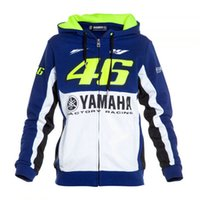 Wholesale Blue Moto Jacket - Free shipping 2017 Valentino Rossi VR46 M1 Factory Racing Team Moto GP Adult Hoodie Sports Sweatshirt Jackets Blue