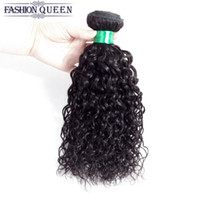 Wholesale Remy Water Wave Weave - 1pc Brazilian Remy Water Wave Real Human Hair Extensions Peruvian Indian Malaysian Wet and Wavy Hair Weave Bundles Can Be Bleached