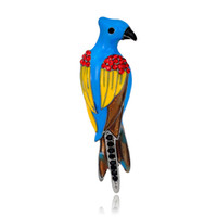 Wholesale Silk Scarf Wholesale China - Newly woodpecker brooches horse stinger brooch silk scarf decoration pins special Drop rubber brooch beauty birds grace brooches AL067