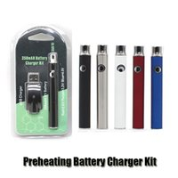 Preheating Batterie Ladegerät Kit 350mAh PreHeat O Stift Knospe Touch Funktion Variable Spannung Vape Batterie Für CE3 G2 Patrone
