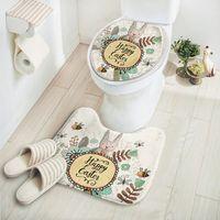 Wholesale Cheap Cartoon Rugs - 2 pcs set Cartoon Rabbit Bathroom Carpet Set,Comfortable Mat Toilet,Cheap Bathroom Rugs,Bath Mats and Toilet,Tapis Salle de Bain