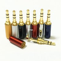 Wholesale Diy Rca Male - 100Pcs\Freeshipping Copper 3.5 mm Audio Jack with Clip Gold-plated 3Pole Male Adapter Earphone Plug For DIY Stereo Headphone