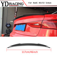 Per Audi A3 / S3 8V Sedan 2013-2016 Fibra di carbonio Auto Car Spoiler Rear Boot Lip Wing car styling