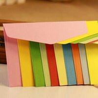 Wholesale Envelope Window - Wholesale- 100 pcs  set Candy colors Size 22x11cm ordinary paper gift window envelopes 10 colors
