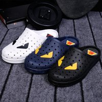 Wholesale Men Plastic Slipper - New lovers household slippers slip men little monster bathing sandals and slippers home skid plastic bathroom slippers 7040501