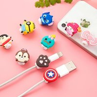 Wholesale Cartoon Winder - Cable Winder Lovely Cute Cartoon Cord Saver Cover For Apple iPhone 8 Pin Charger Data Cable Protective Protector Saver , 1000pcs lot DHL