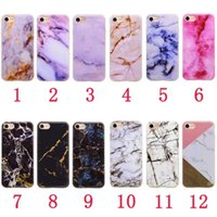 Wholesale Black Granite Stones - Marble Rock Granite Soft TPU Case For Iphone 8 7 Plus 6 6S SE 5 5S Silicone Natural Stone Grain High Quality Fashion Cell Phone Skin Cover