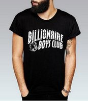Wholesale Club Organic - 2017 BILLIONAIRE BOYS CLUB T-Shirt BBC T Shirts Men Hip Hop Cotton tshirt O Neck billionaire Man Tops Shirt Free Shipping