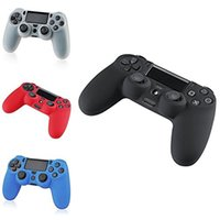 Wholesale Ps4 Silicone Skin - Wholesale Silicone case cover for PS4 Controllers Flexible Silicone Protective Skin for Sony PS4 Game Controller