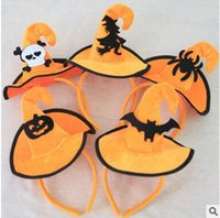 Wholesale Pumpkin Headbands - Halloween decorationsHalloween pumpkin hooded hooded costume party decorating head