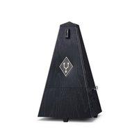 tour de musique achat en gros de-Prix de gros Pyramid Tower Music Mécanique Métronome acajou couleur Music Metronomes pour Piano Violon Guitare Utilisation
