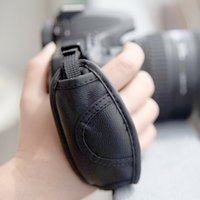 Wholesale Hand Strap For Dslr Camera - High Quality PU Leather Camera Wrist Strap Soft Hand Grip for Canon Nikon Sony Olympus SLR DSLR