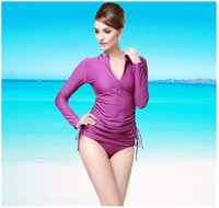 Wholesale Uv Protection Shirts - SBART Women Long Sleeve Rashg uard Swim Shirts Womens Swimwear Lycra Surf Rushguard Top Quality UV-Protection Rush Guard Tops