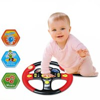 Wholesale Driving Steering - Wholesale- Children's Steering Wheel Toy Baby Childhood Educational Driving Simulation