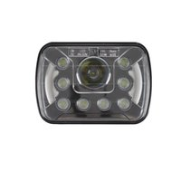 Wholesale Wholesale Jeep Cherokee - 2pcs 5x7 INCH 55W LED Work light Square led headlight with Halo Ring DRL for Jeep Wrangler YJ Cherokee XJ Trucks 4x4 Offroad