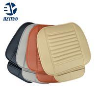 cadeira reclinável venda por atacado-HZYEYO Faux Almofada Do Assento de Carro de Couro Quatro Temporada Use Tampa de Assento Do Carro Almofada de couro, quatro cores T1008