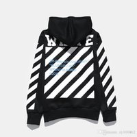 Wholesale Geometric Print Sweater - BLACK AND white Tide Brand Men's Wear Tide Brand Hoodies Camouflage Split Fashion Sweater Loose Coat