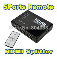 Wholesale Matrix Splitter - HDMI True Matrix 3   5 Port HDMI Switch Switcher HDMI Splitter Hub Box for PS3 Xbox 360 HDTV DVD with IR Wireless Remote