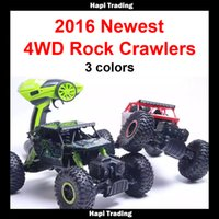 Wholesale Scale Rc Trucks - RC Car 4wd 2.4Ghz 1 18 Scale Remote Control toys 4 Wheel Drive Rock Crawler rc Car remote control toys for children