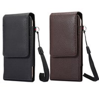 Wholesale Iphone Leather Hip Case - Hip Horizontal Lichee Leather Clip Holster Case For Iphone 7 6 6S Plus 5 5S 5SE Galaxy S8 S7 Edge S6 Note 5 4 Buckle 360 Degree Belt Pouch