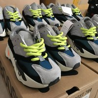 Wholesale Kids Runners - kids sneakers Kanye West Wave Runner BOOTS 700 Running Shoes Children 700 Sports toddler shoes Casual With Box
