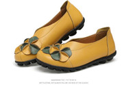 Wholesale Leather Flowers For Sale - Hot Sale 2017 Fashion New Woman Flats Flowers Comfortable Women Casual Shoes Solid Classic Round Toe Summer Shoes Slip-on Shoes for ladies